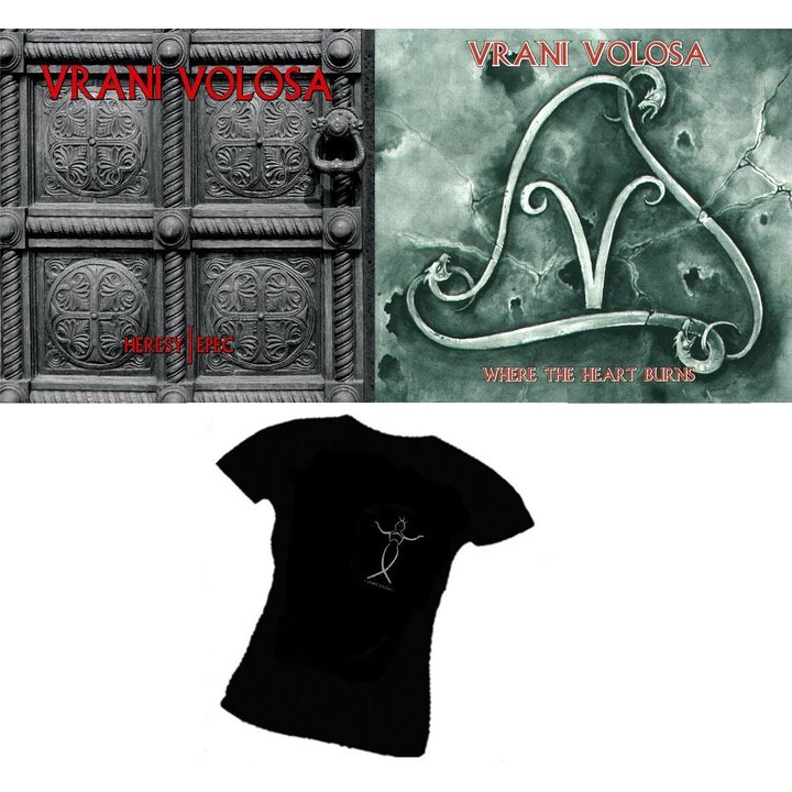 Vrani Volosa - Heresy / Epec  Digi-CD + Vrani Volosa - Where the Heart Burns + Digi-CD + Girlie-TS