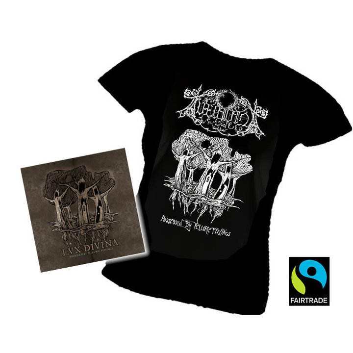 Lux Divina - Possessed  By Telluric Feelings CD + Girlie T-Shirt