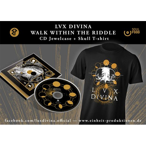 Lux Divina - Walk Within The Riddle CD + Skull T-Shirt
