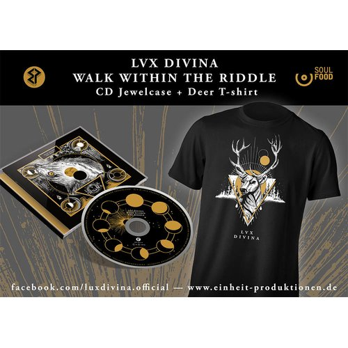 Lux Divina - Walk Within The Riddle CD + Deer T-Shirt