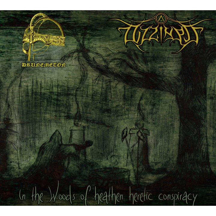 Drunemeton/Dizziness - In The Woods Of Heathen Heretic Conspiracy (Split) Digi-CD