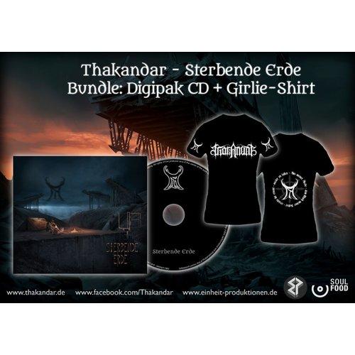 Thakandar - Sterbende Erde Digi-CD + Girlie T-Shirt