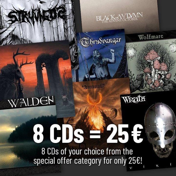 8 Sonderangebots-CDs deiner Wahl