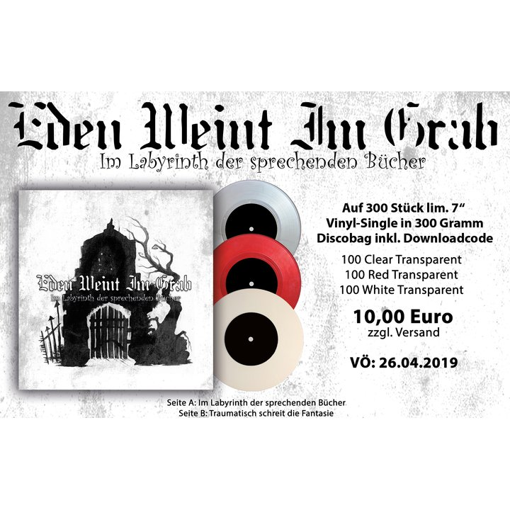 Eden Weint Im Grab - Im Labyrinth der sprechenden Bücher Vinyl EP + MP3 Download Code