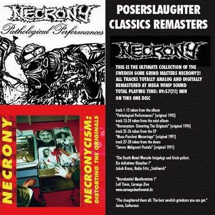 Necrony - Poserslaughter Classic Remasters CD