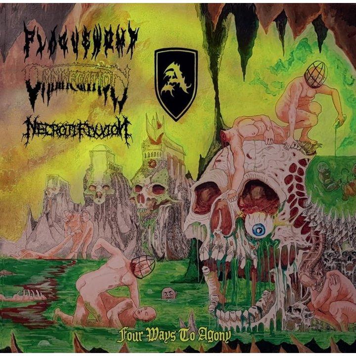 Plaguewomb / Omninegation / Necrotifixxion / Abschwörung - 4 Ways To Agony CD